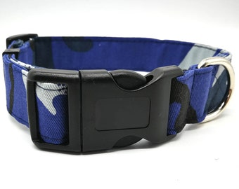 Blue Camouflage Collar