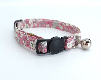 Pink floral fabric design with breakaway clasp