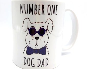 Number One Dog Dad Mug
