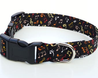 Dog Collar - Musical Notes