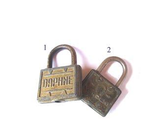 Vintage Daphne horseshoe good luck rustic old padlocks