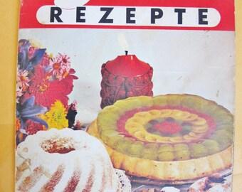 1950s  Austrian German COOK BOOK,  Haas Recipes, Viennese Confiture, Sweets, Valentine, Strudel, Torten, Cookies, Hearts,