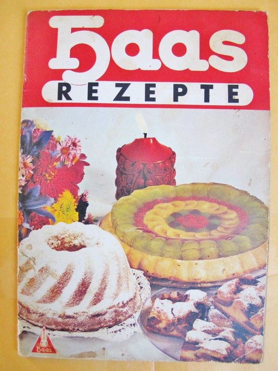 1950s Austrian German Cook Book Haas Recipes Viennese Etsy
