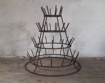 French Drying Rack, Bottle Drying Rack, French Bottle Dryer, Rack with Hooks, Store Display Rack, Mug Tree Stand, Countertop Display Stand