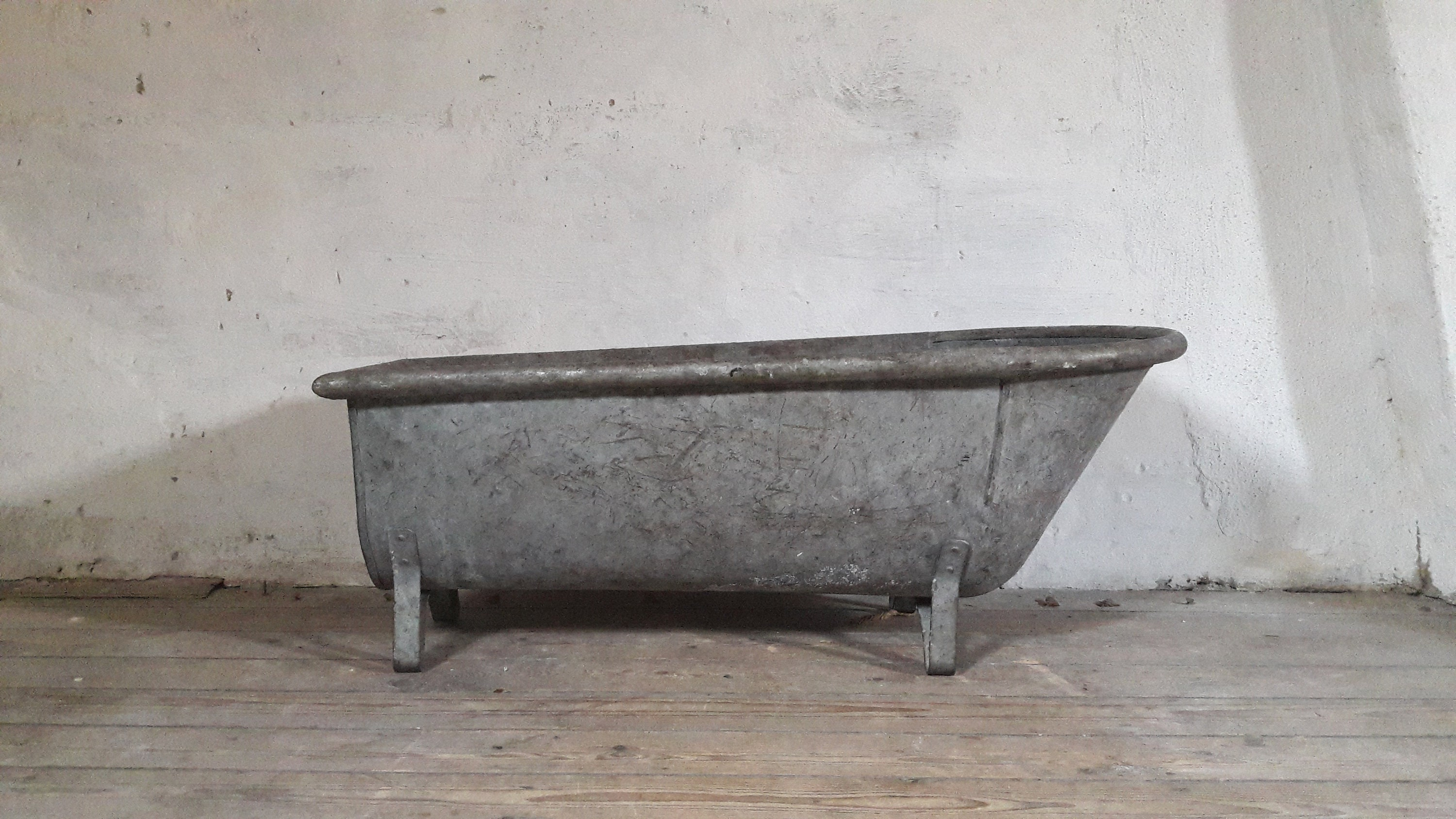 Antique French Bath Galvanized Bath Tub Zinc Baby Bath Tub