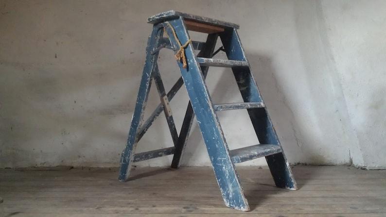 Scaletta francese industriale scaletta sgabello scaletta etsy