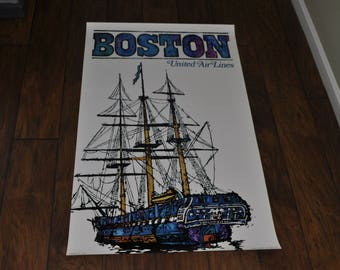 Original poster - 1968 United Airlines BOSTON by Jebary.