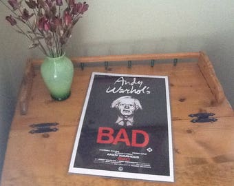 Andy Warhol'S poster from BAD by film distributors. Pop Culture decorative collectible in protective sleeve.