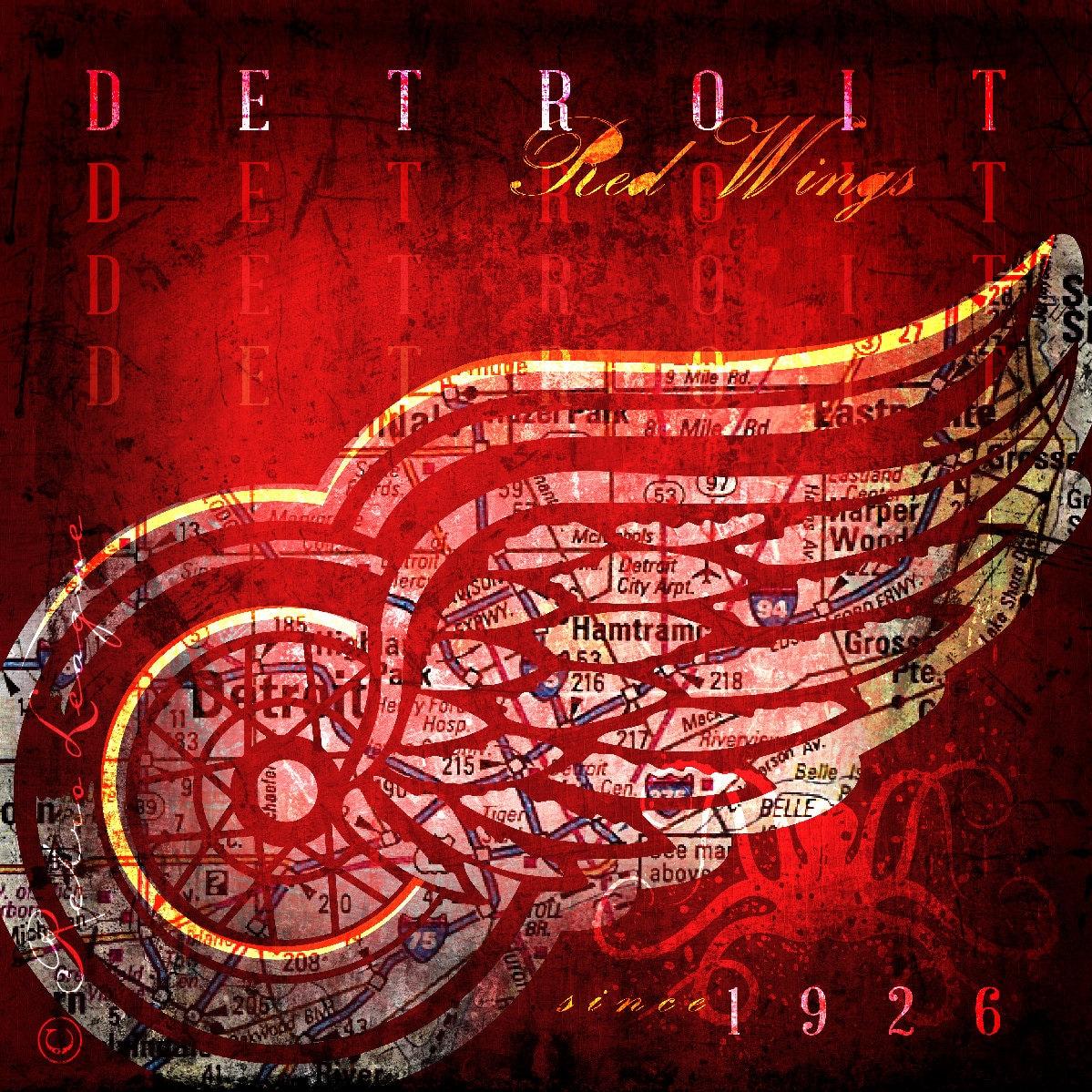 Detroit Red Wings Stadt Karte perfekte Weihnachten | Etsy