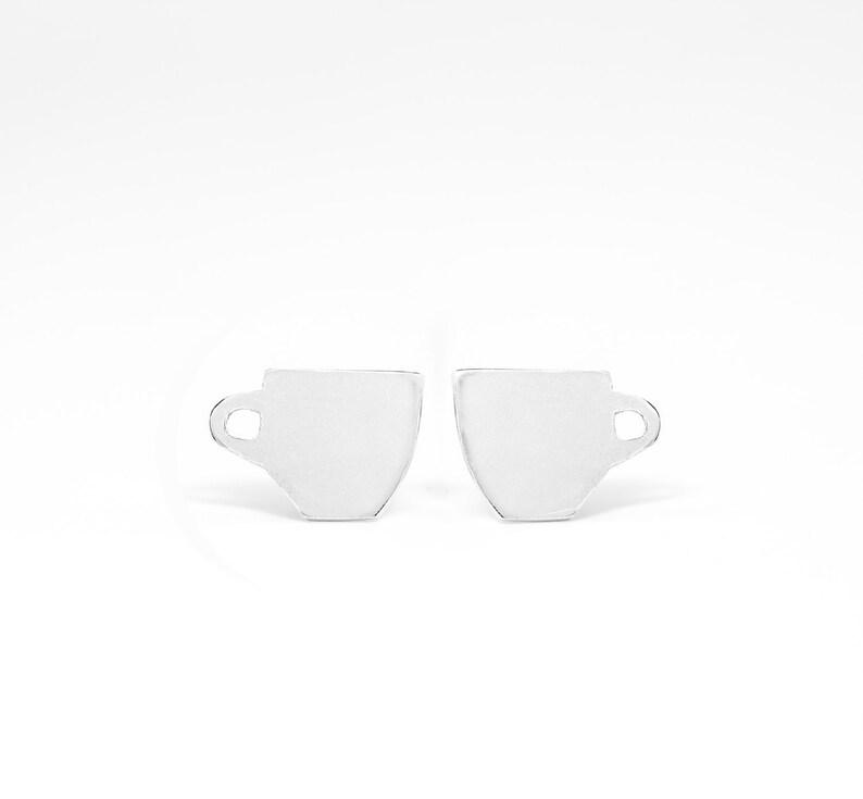 Caffeine Lovers Stud Earrings  Coffee Themed Earring Studs  image 0