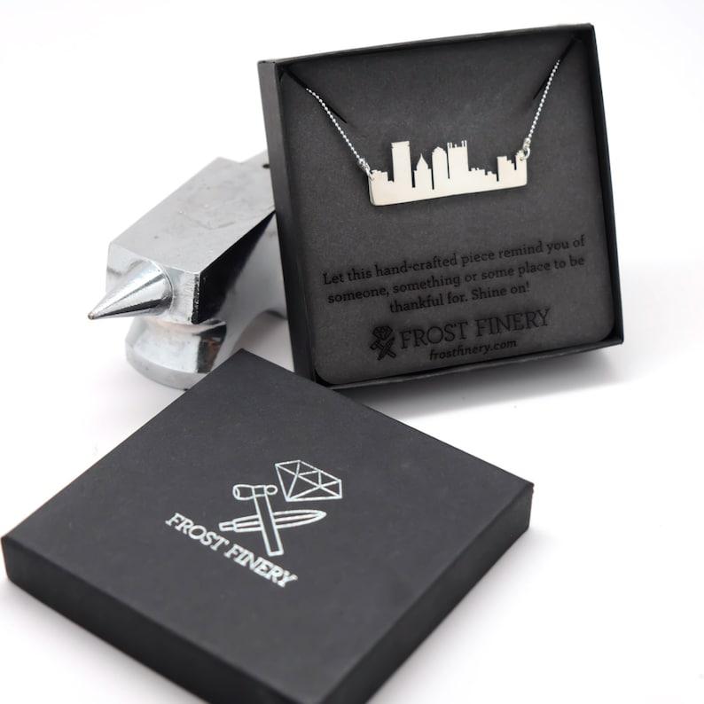 Pittsburgh Skyline Necklace  Handmade Pittsburgh Pendant image 0