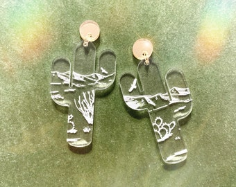   Saguaro National Park Earrings Jewelry Gifts for Arizona Lovers Tucson Earrings Sedona Art Sedona Jewelry Saguaro Earrings