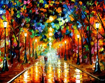 "Large Oil Painting Wall Art On Canvas By Leonid Afremov - Farewell To Anger. Size: 36"" X 24"" Inches"