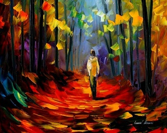"""Nature Canvas Wall Art Vertical Painting By Leonid Afremov - Morning Mood. Size: 20"""" X 36"""" Inches (50cm x 90cm)"""