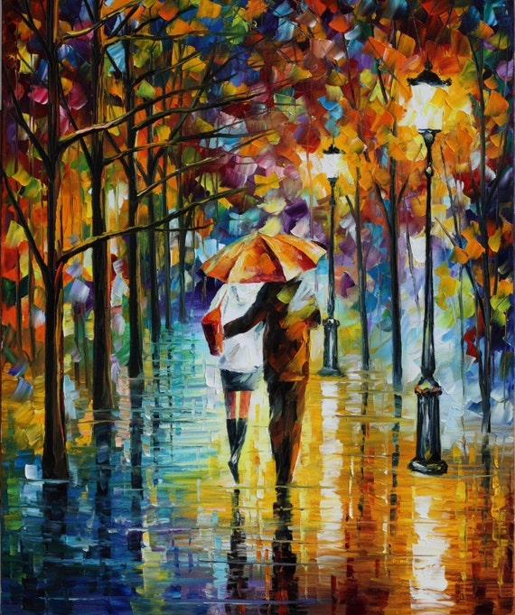 Romantic Fine Art Hug Painting On Canvas By Leonid Afremov