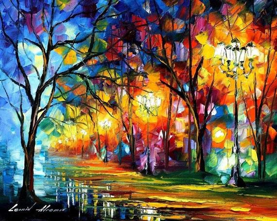 Famous Artists Paintings Colorful Landscape Art On Canvas