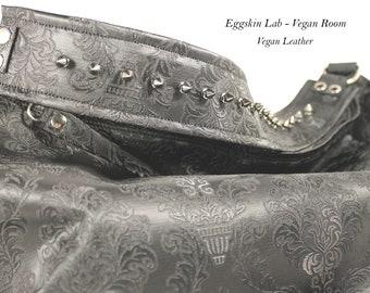 VEGAN Anahita K. Damask. Vegan Leather bag. Synthetic Leather bag. Shoulder vegan bag. Faux Leather bag. Vegan Purse. Studs. Gothic bag Goth