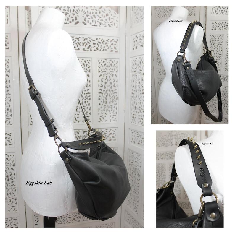 CARAXES Medium size is a soft purse. Black italian quality image 0