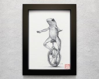 """Dat Boi - 5 x 7"""" print (o shit waddup, drawing, art, artwork, internet, dank meme, here come dat boi, decor)"""