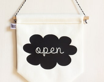 OPEN/CLOSED SIGN. Signs for business. Commercial signs.  Front/Back door sign. Boutique sign Business sign
