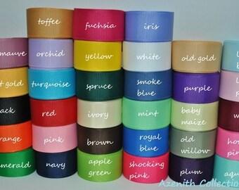 "7/8"" GROSGRAIN  ribbon solid  You pick color, hairbow ribbon, ribbon supply"