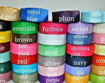 """5/8"""" grosgrain ribbon solid  You pick color, grosgrain ,ribbon"""