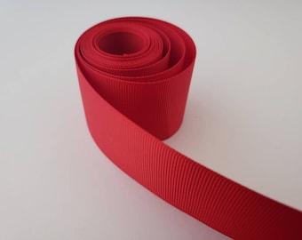 "RED 1.5"" GROSGRAIN ribbon solid  - 1,5,10 yards  -grosgrain ribbon for hair bow, party ribbon, solid ribbon"