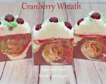 Cranberry Wreath Soap Bars