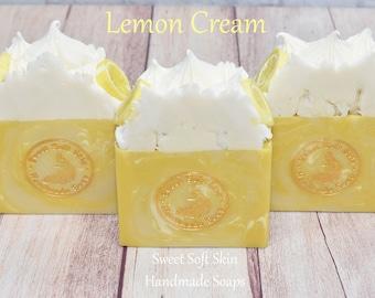 Lemon Cream Soap Bars