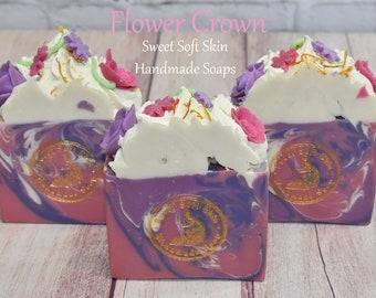 Flower Crown Soap Bars