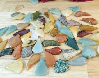 Mixed B-C Grade Stone Pendants. (quartz aventurine jasper discount bulk wholesale crystal gemstone green yellow)