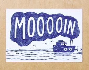 MOOOOIN Postcard