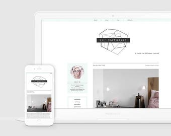 Hipster Blogger Template — Premade Blog Design — Responsive Blogger Design — Lifestyle Blog Theme — Triangle Blog Template — Clean / Lil Nat