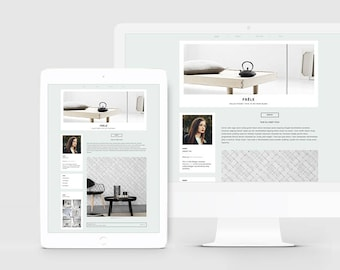 Blogger Theme + Slider — Responsive Blogger Template — Premade Blog Template for Photographer — Fashion Blog — Lifestyle Blog Design / Frele