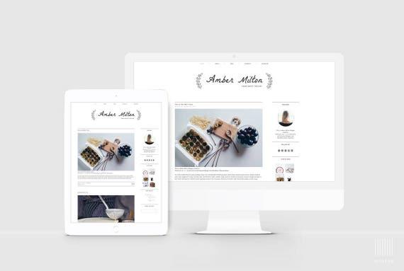 Premade Blog Template Sleek Blog Design Responsive Blogger Etsy