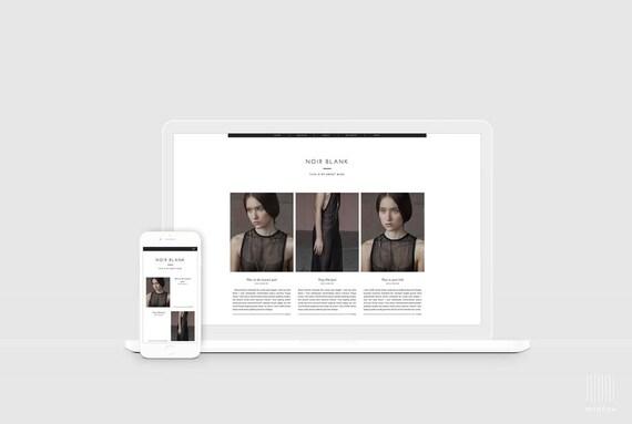 Lifestyle Blog Template Magazine Style Blogger Design Etsy