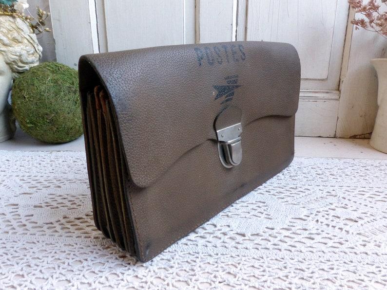 6419bd74eb6dc3 Vintage french genuine leather postman s work bag.