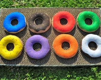 Doughnut Cat Toy Catnip Toy, Felt, handmade