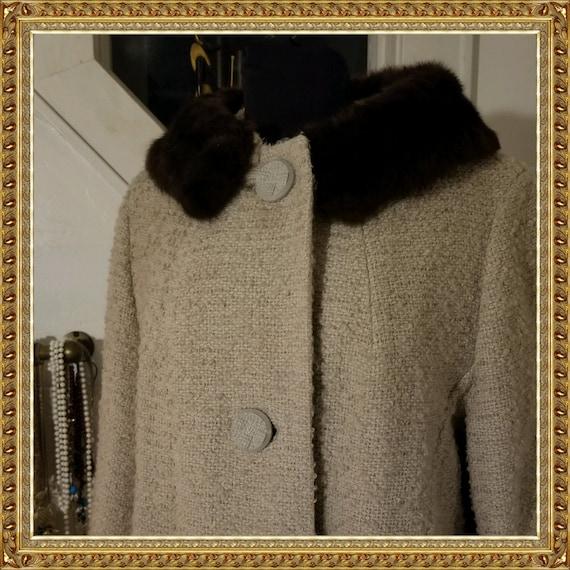 1960s Designer A-Line Overcoat - image 1