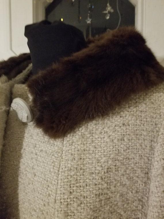 1960s Designer A-Line Overcoat - image 9