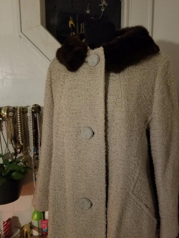 1960s Designer A-Line Overcoat - image 2