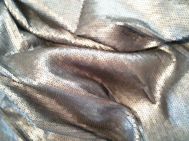 77-105 fb Sequin fabric matt grey sequin fabric