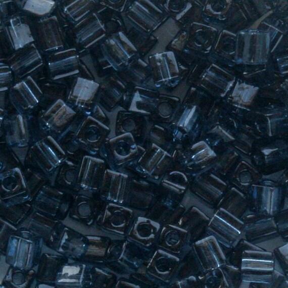 3mm 10g transparent green Miyuki cubes 146