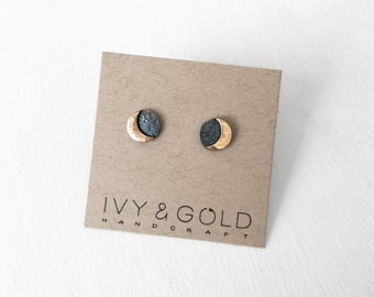 Solar Eclipse Earrings. Sterling Silver. Gold Fill. Nature Inspired. New Rustic. Sun Earrings. Eclipse Jewelry. Occult Jewelry. New Moon
