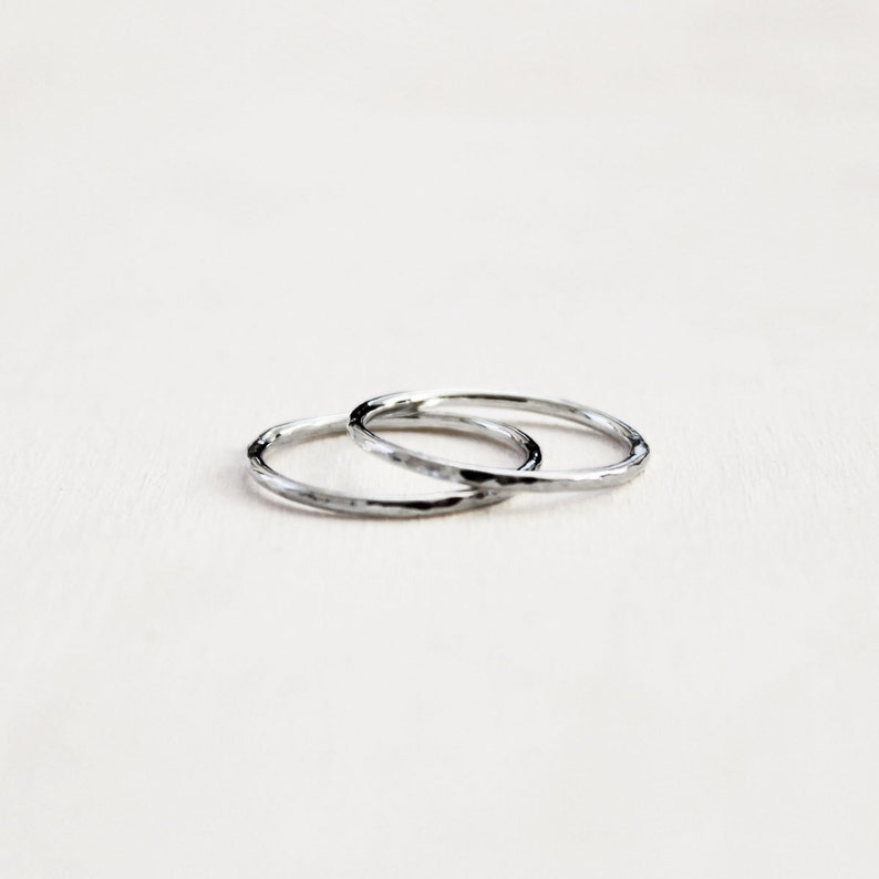 Knuckle ring Sterling silver ring Rings Stacking rings Set of 3 Sterling Silver Stacking Rings Unique Rings Bridesmaid Gift