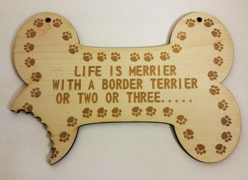 Border Terrier Dog . Wooden Sign For Border Terrier. image 0