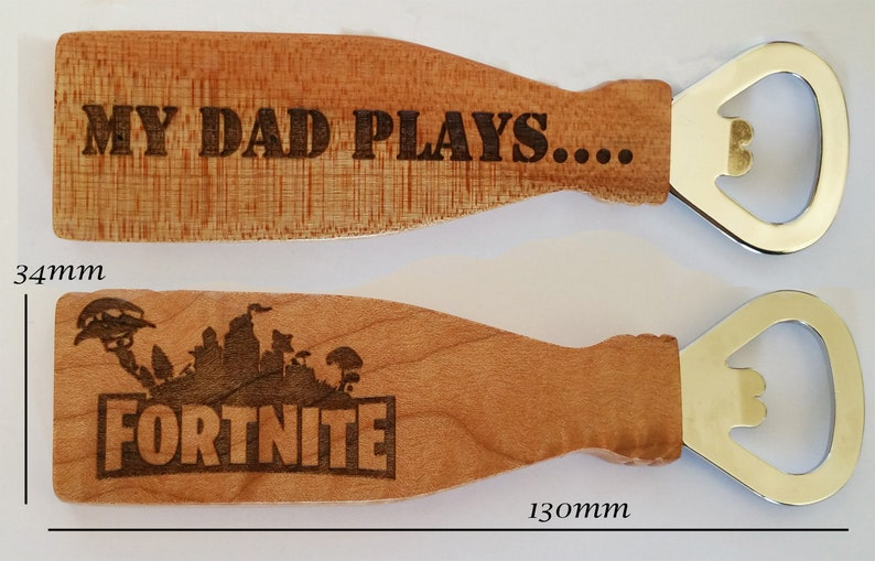 Fathers Day Fortnite Bottle Opener. Fathers Day Gift. Engraved image 0