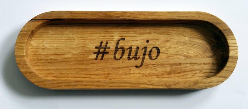 Bullet Journal Oak Pen Box. Pencil Box. Wooden Pencil Box image 0