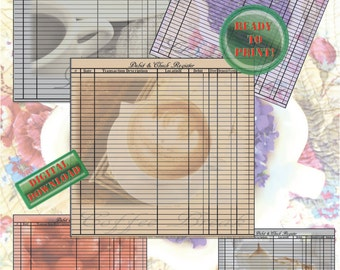 lemon meringue pie printable check register sheets debit etsy