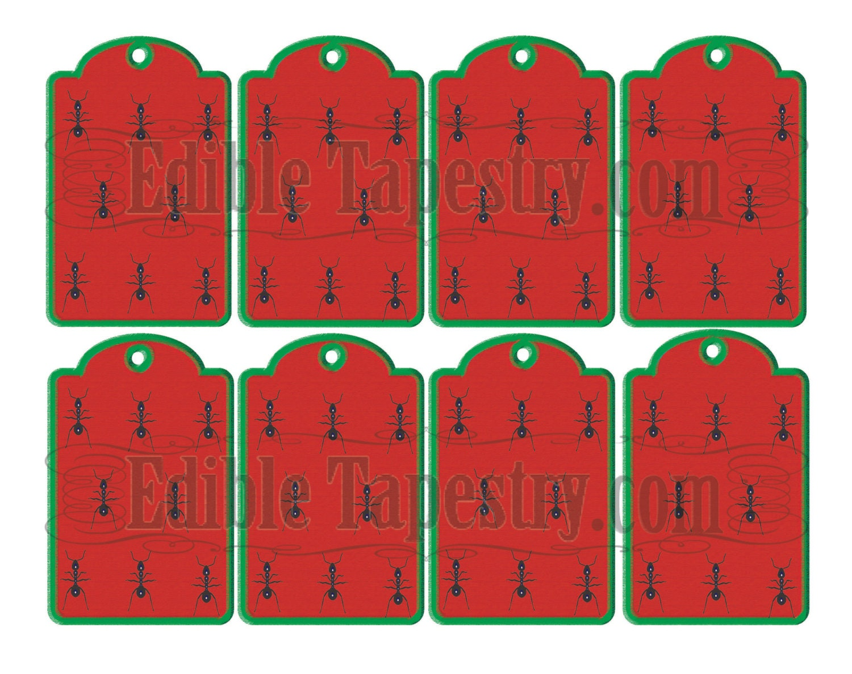 Hormiga colgar etiquetas JPG para imprimir hoja sandía | Etsy